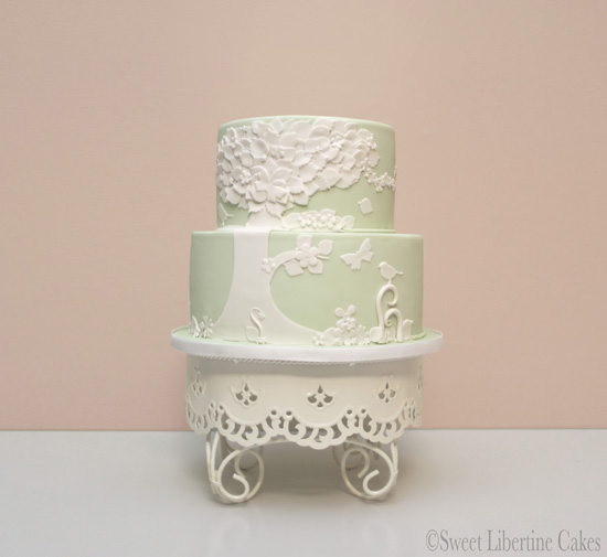 sweet libertine soring inspired cakes Spring Inspired Wedding Cakes