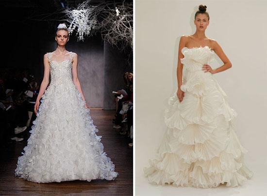 New Monique Lhuillier Wedding Dresses MARCHESA New York Bridal Fashion Week Spring 2011