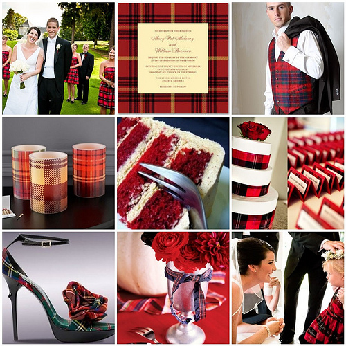 Aimee and Paul - Tartan Inspiration