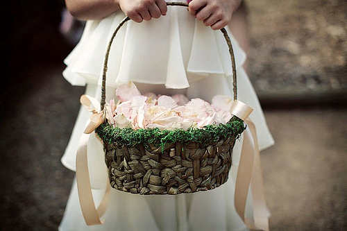 DIY Flowergirl Basket - the finished product