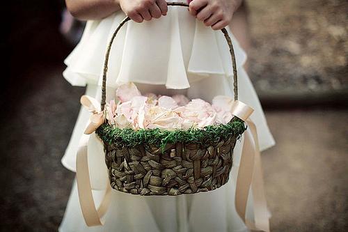 diy wedding flower girl basket