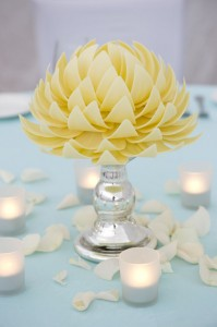 white chocolate centrepiece