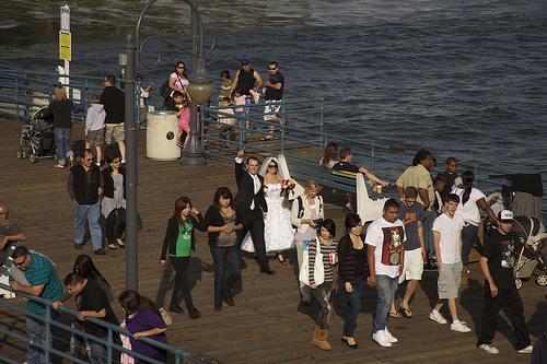 131 A Wedding on the Santa Monica Pier, April 10, 2010