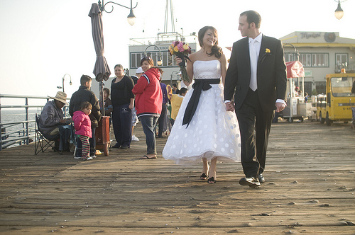 141 A Wedding on the Santa Monica Pier, April 10, 2010