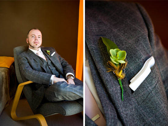 Groom and boutonniere detail