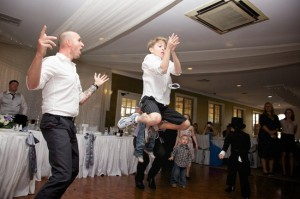 kids dancing wedding reception