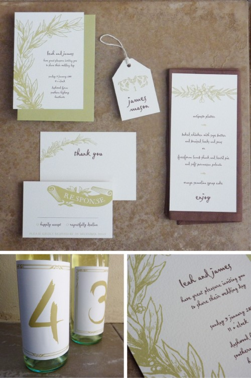 25 Free printable rustic wedding stationery