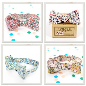 floral bow ties forage