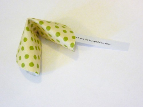 10 Fabric Fortune Cookies
