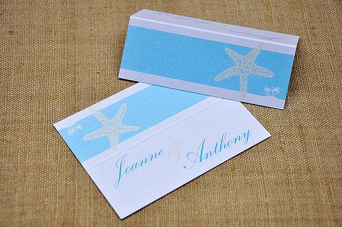 Starfish Place Card Wedding Invitation by mini Moko