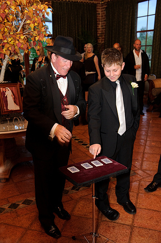 Magician entertaining my little brother