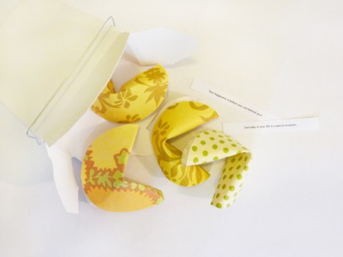 4 Fabric Fortune Cookies