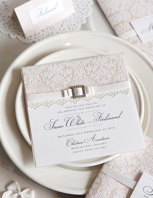 Cristina Re Majestic Pearl Majestic Pearl Wedding Invitation