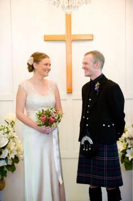 wedding ceremony at la trobe chapel brisbane