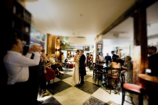 wedding dance in restaurant