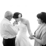 bride kissing fathers hand