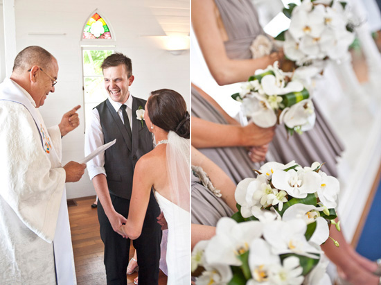 The orchid floral arrangements for Lauren and Mitch 39s wedding day were
