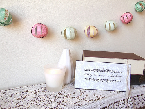 DIY Bauble Garland - The finished product!