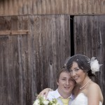 Corrin and Johnny Polka Dot Retro Wedding