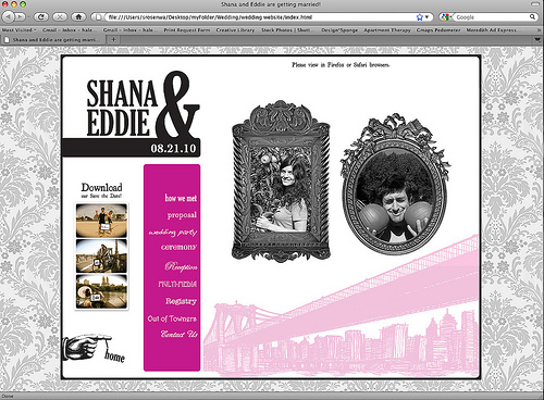 Custom Wedding Homepage