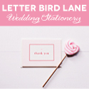Letter Bird Lane Bride banner