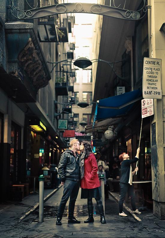 Urban Melbourne Engagement001 Sarah and Daves Urban Melbourne Engagement Shoot