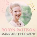 Robyn Pattison Civil Marriage Celebrant Bride banner