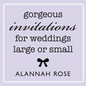 Alannah Rose Stationery Boutique Weddings banner
