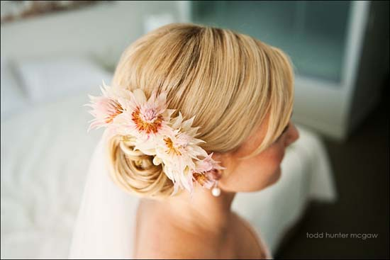 Australian natives in wedding hair Wedding Hair Inspiration Sleek And Stylish Up Dos