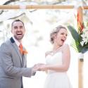 bride and groom happy ceremony