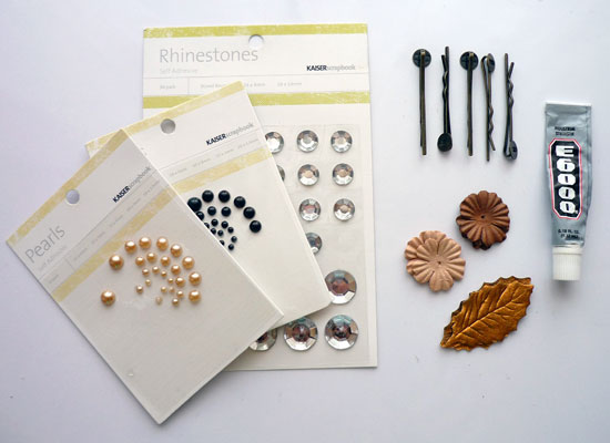 Paper Flower Hair Pin Supplies
