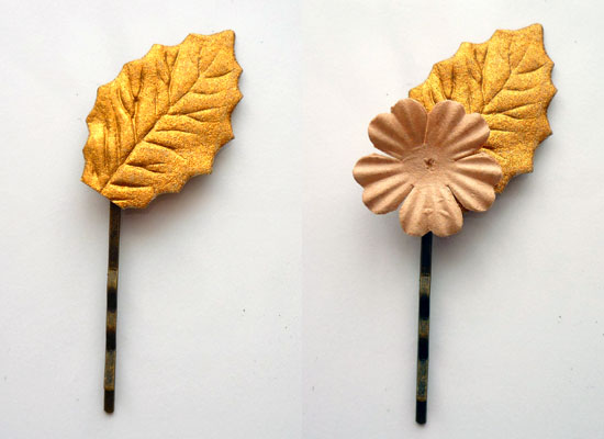Paper Flower Hair Pins step 1