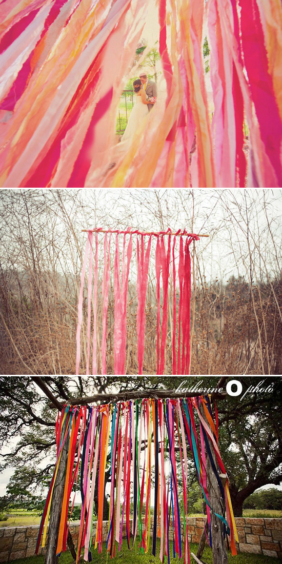Streamer Ceremony Backdrop Five Ways to Decorate Your Garden Ceremony