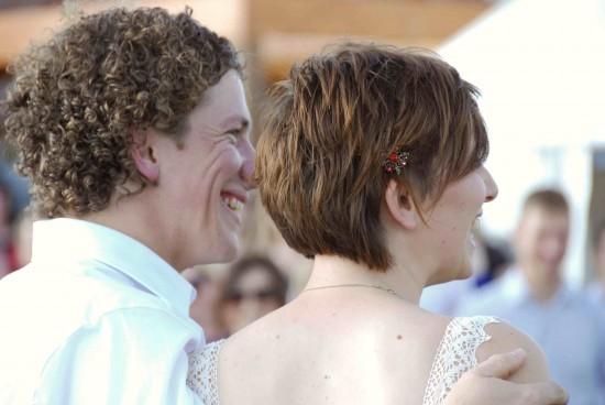 ceremony us back e1319709033642 A Florists Country Wedding Emma and Braden