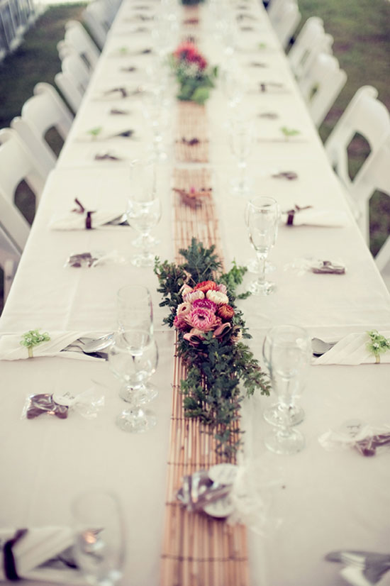 country wedding table decorations Catherine and James Laidback Country Wedding