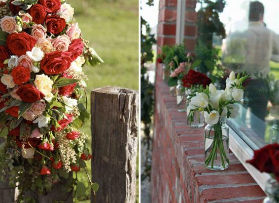 flowers1 e13197088146001 A Florists Country Wedding Emma and Braden