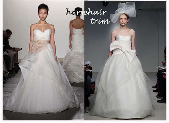 illusion and horsehair blog Wedding Dress Trends 2012