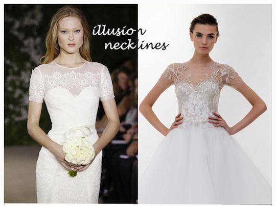 illusion and horsehair blog1 Wedding Dress Trends 2012