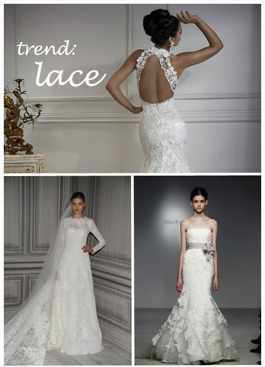 lace trend blog Wedding Dress Trends 2012