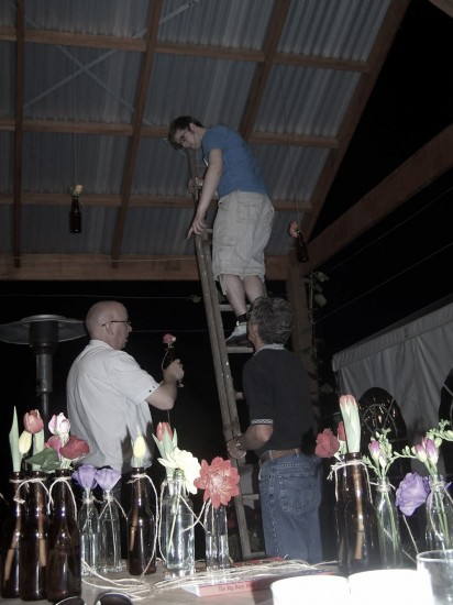 set up for brave ones e1319708373638 A Florists Country Wedding Emma and Braden