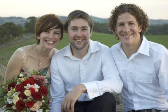 us and matt e1319708301476 A Florists Country Wedding Emma and Braden