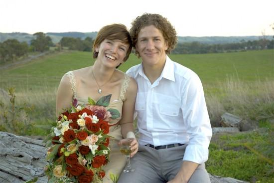 us log cu e1319708281861 A Florists Country Wedding Emma and Braden