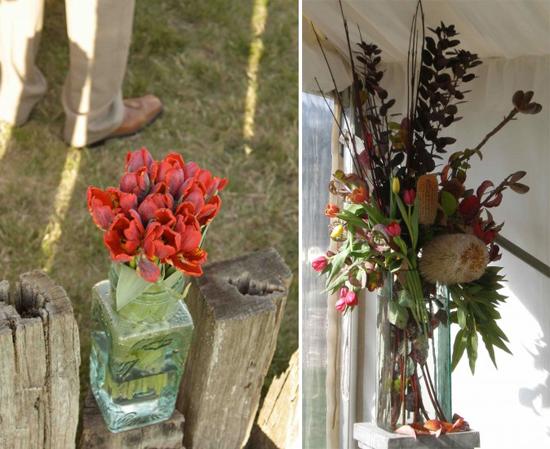venue posts e13197080364561 A Florists Country Wedding Emma and Braden