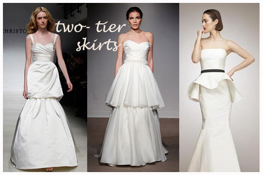 2tierskirtblog1 Wedding Dress Trends 2012