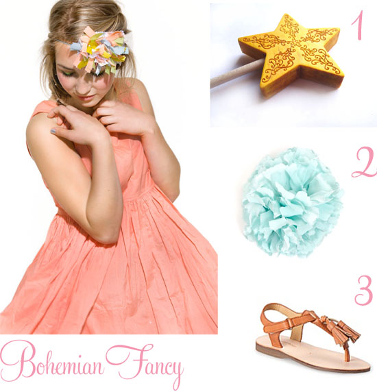 Bohemian Fancy Flower girl style Flowergirl Style From Big By Fiona Scanlan