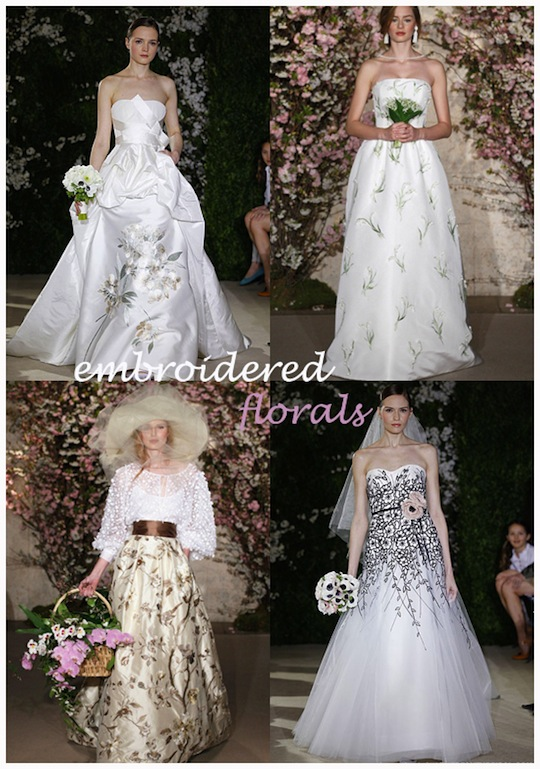 embroidered florals blog Wedding Dress Trends 2012