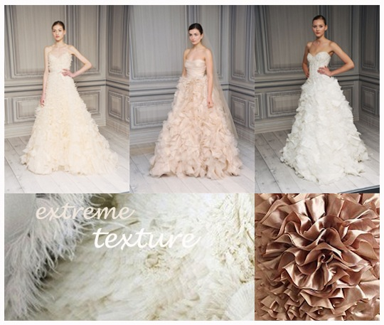 extreme texture Wedding Dress Trends 2012