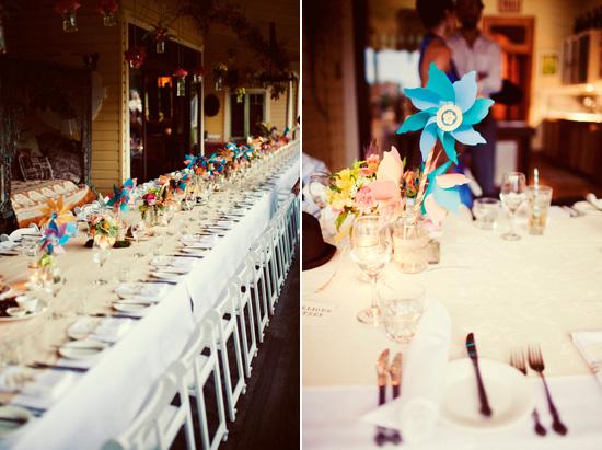 Elysia and Glen's Paper Pinwheel Wedding Inspiration | Polka Dot Bride