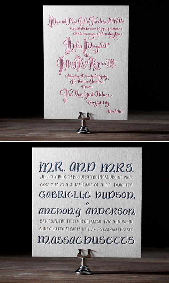 bella figura calligraphy letterpress Bella Figura Letterpress Stationery