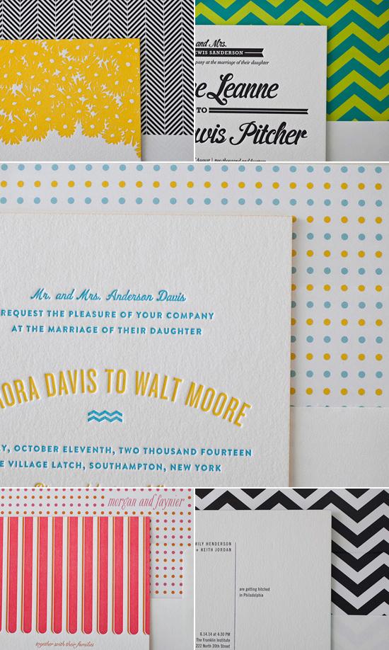 bella figura envelope liners Bella Figura Letterpress Stationery